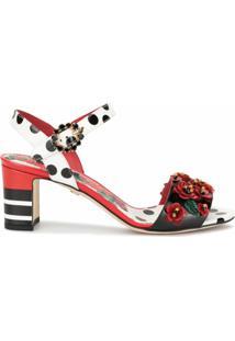 Dolce & Gabbana Sandália Com Estampa Floral - Colorido