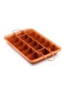 Forma De Bolo - Brownie Com Fundo Removivel Antiaderente 18 Porções