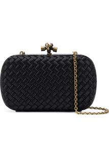 Bottega Veneta Clutch Com Corrente - Preto