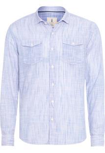 Camisa Masculina Hamê Listras - Azul
