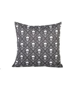 Capa Almofada Stooge Skull Pattern Preto - Kanui