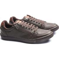 f0bc03737e8 Sapatenis Ped Shoes Zíper Lateral Masculino - Masculino-Marrom