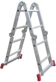 Escada De Alumínio Botafogo Articulada, 4X2 Degraus - Esc0291