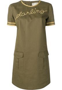 Saint Laurent Darling Mini Dress - Verde
