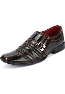 Sapato Social Degradê Verniz Sapatofran Vinho