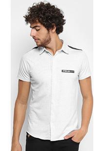 Camisa Rg 518 Manga Curta Recorte Masculina - Masculino