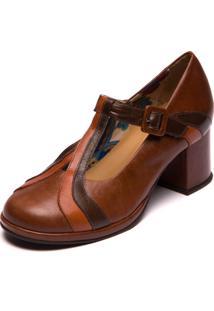 Sapato Feminino Jatobá / Papaya / Chocolate 5858