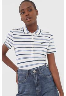 Camisa Polo Lacoste Listrada Off-White