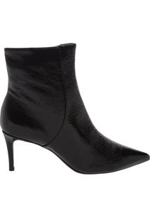 Bota Verniz Mid Heel Black | Schutz
