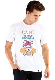 Camiseta Ouroboros Manga Curta O Poder Do Café - Masculino-Branco