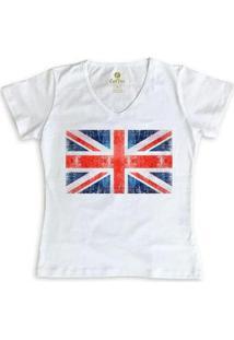 Camiseta Cool Tees Gola V Viagem Feminina - Feminino-Branco