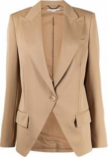 Stella Mccartney Single-Breasted Oversize Wool Blazer - Marrom