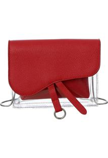 Bolsa Fedra F6547 Vermelha - Vermelho - Feminino - Dafiti