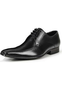 Sapato Social Bigioni De Amarrar Estilo Italiano Masculino - Masculino-Preto