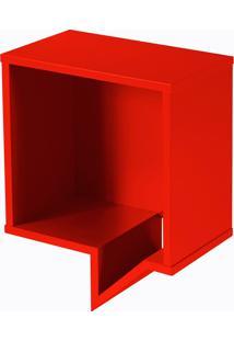 Prateleira Cartoon Quadrada Vermelho Laca M48