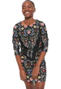 Vestido Desigual Curto Clementine Preto - Preto - Feminino - Poliã©Ster - Dafiti