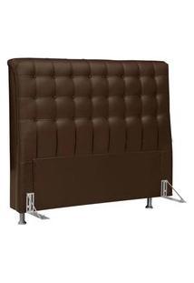 Cabeceira Casal Queen 160Cm Para Cama Box Ana Corino Marrom - Ds Móveis
