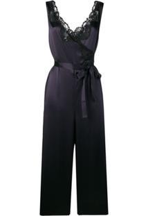 Stella Mccartney Macacão Com Amarração Na Cintura - Azul