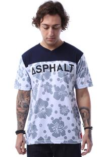 Camiseta Asphalt Polka Hibiscus Masculina - Masculino