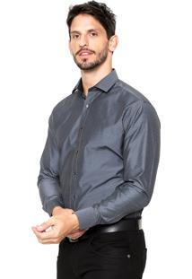 Camisa Vivacci Gravataria Cinza
