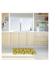 Tapete De Cozinha Mdecore Girassol Verde 40X60Cm
