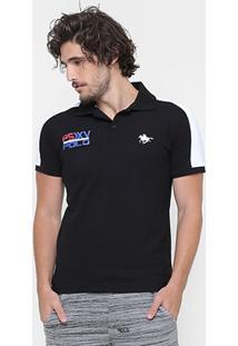 Camisa Polo Rg 518 Piquet Recorte Bordado Psxv - Masculino