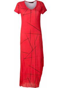Uma | Raquel Davidowicz Vestido Longo Candido - Vermelho