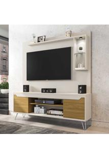 Estante Para Tv Até 52 Polegadas 2 Portas 4 Prateleiras Gabbana 2075347 Off White/Cinamomo - Bechara Móveis