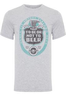 Camiseta Masculina To Beer - Cinza Mescla