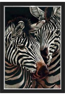 Quadro Caixa 33X43 Nerderia E Lojaria Zebras Preto