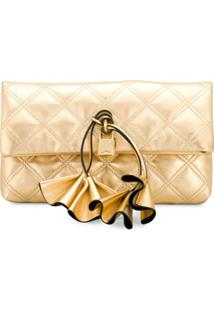 Marc Jacobs Clutch Matelassê Sofia Loves - Dourado
