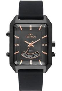 Relógio Technos Digital Preto T200Ai/2P Feminino - Feminino-Preto