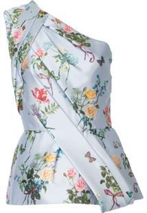 Monique Lhuillier Blusa Assimétrica - Rosa