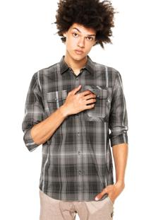 Camisa Oakley O-Plaid Ls Woven Cinza