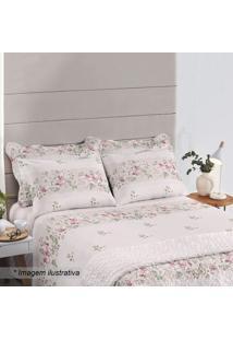 Jogo De Cama Royal Plus Casal- Rosa Claro & Bordã´- 4Santista