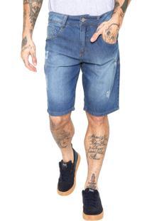 Bermuda Jeans Biotipo Estonada Azul