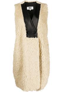 Mm6 Maison Margiela Textured Sleeveless Coat - Neutro