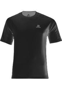 Camiseta Comet Ss Masculino Preto G - Salomon