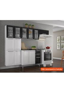 Cozinha Compacta Luce 10 Pt Branca E Preta