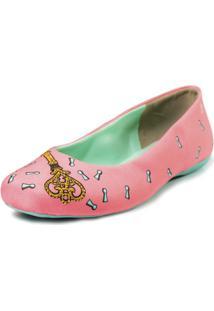 Sapatilha Shoes Inbox Bico Quadrado Cupcakes Shoes Feminino - Feminino-Rosa