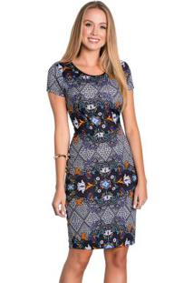 5d8bf13ac R$ 49,99. Posthaus Vestido Ajustado Étnico Moda Evangélica