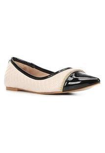 Sapatilha Shoestock Bico Fino Matelassê Corrente Feminina