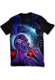 Camiseta Manga Curta Stompy Psicodelica 41 Preto