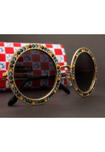 Óculos De Sol Dourado Metal Leve feminino   Shoelover 35923627d8