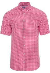 Camisa Masculina Classic Gingham - Vermelho