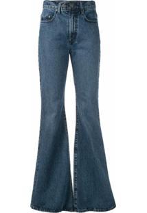 Nobody Denim Calça Jeans Flare Marina - Azul