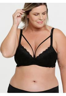 Sutiã Feminino Com Base Renda Strappy Plus Size Marisa
