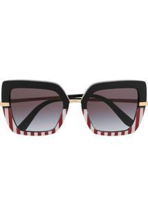 Dolce & Gabbana Eyewear Óculos De Sol Oversized Degradê - Preto