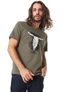 Camiseta Wrangler Estampada Verde