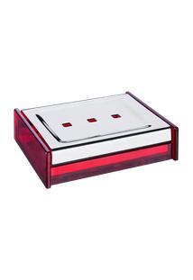 Saboneteira - Quadrata 10 X 8 Cm Vermelho Brinox